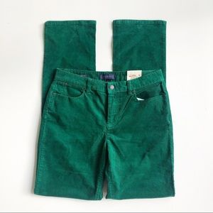 Talbots Green Heritage Straight Leg Corduroy Pants